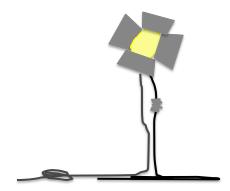spot light drawing